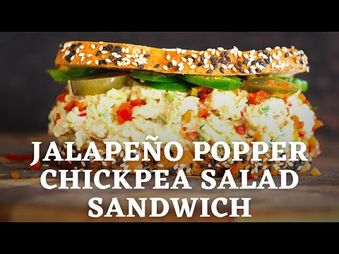 JALAPEÑO POPPER CHICKPEA SALAD SANDWICH | Vegan Richa Recipes by Richa Hingle