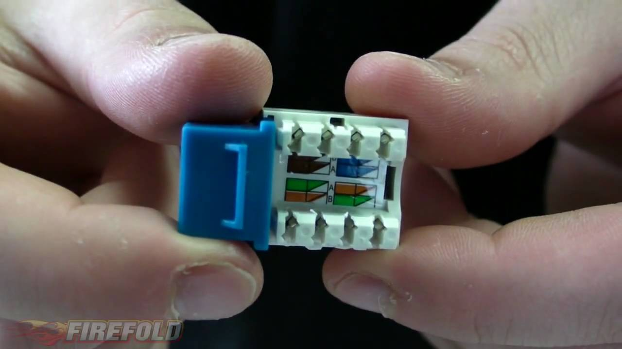 Cat5 Socket Wiring Diagram Narva Spotlights Networking 101: How To Punch Down Cat5/e/cat6 Keystone Jack - Firefold Youtube