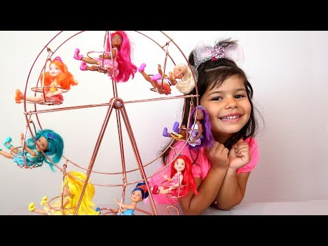 FERRIS WHEEL! Chelsea and Barbie Dreamtopia dolls