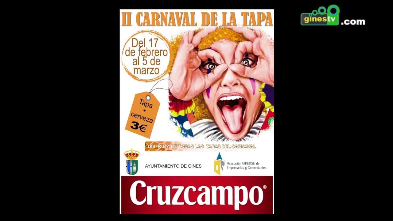 El Carnaval de la Tapa de Gines volverá a fomentar la gastronomía local
