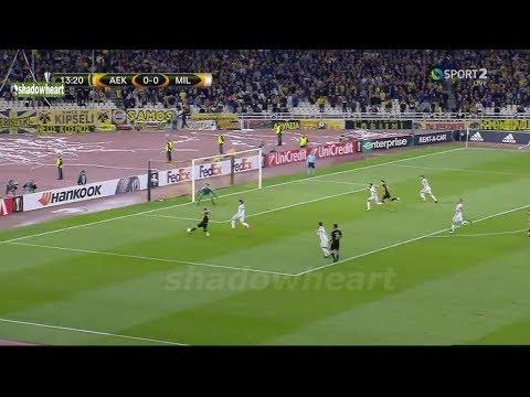 Α.Ε.Κ vs Μίλαν 0-0 Highlights {2/11/17}