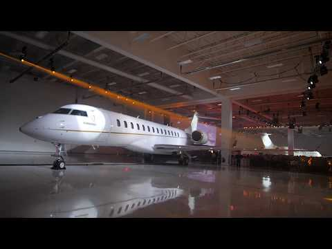 Global 7500 aircraft entry-into-service celebration