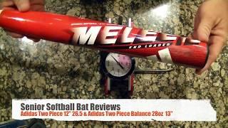 """Senior Softball Bat Reviews (Adidas Two Piece 12"""" Compression Test)"""