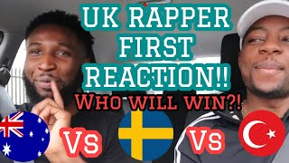 UK (BRITISH) RAPPER FIRST REACTION AND RATES SWEDISH, AUSTRALIAN AND TURKISH MUSIC