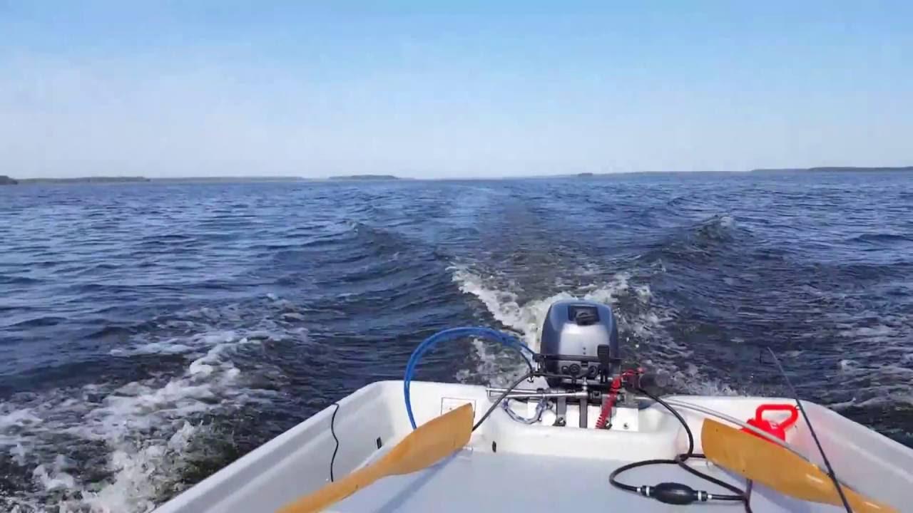 Terhi 445 Std Power boat, Fishing Boat Year - 2014, - YouTube
