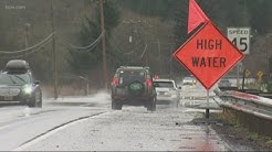 Weather conditions improving on Oregon Coast