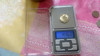 калибровка карманных весов в домашних условиях.С помощью монеты в 10 рублей
