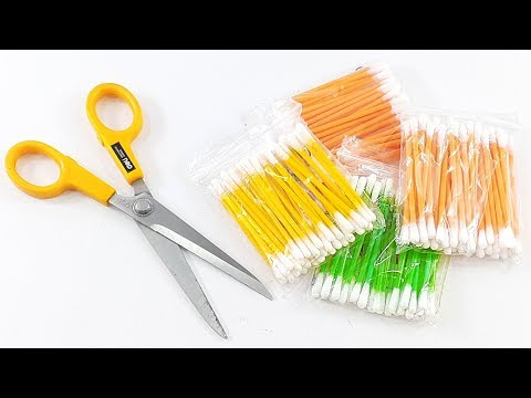 amazing home decorating idea Out of cotton buds | Best craft idea | DIY arts and crafts