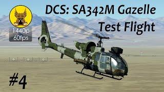 test flight dcs sa342 gazelle 4 lighting adf radio hover departure