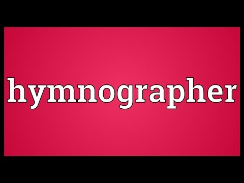 Header of hymnographer