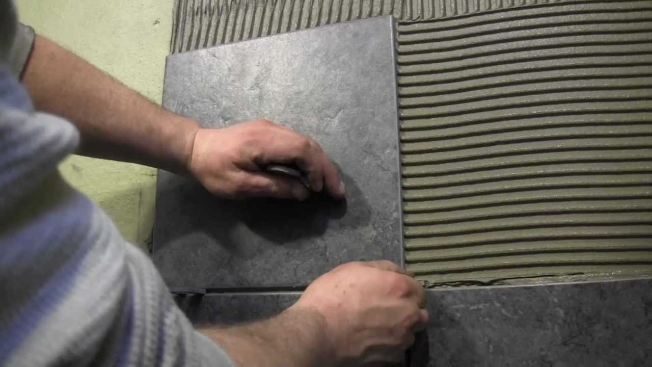 How to tile a shower wall- Cutting and Installing Wall Tile - YouTube