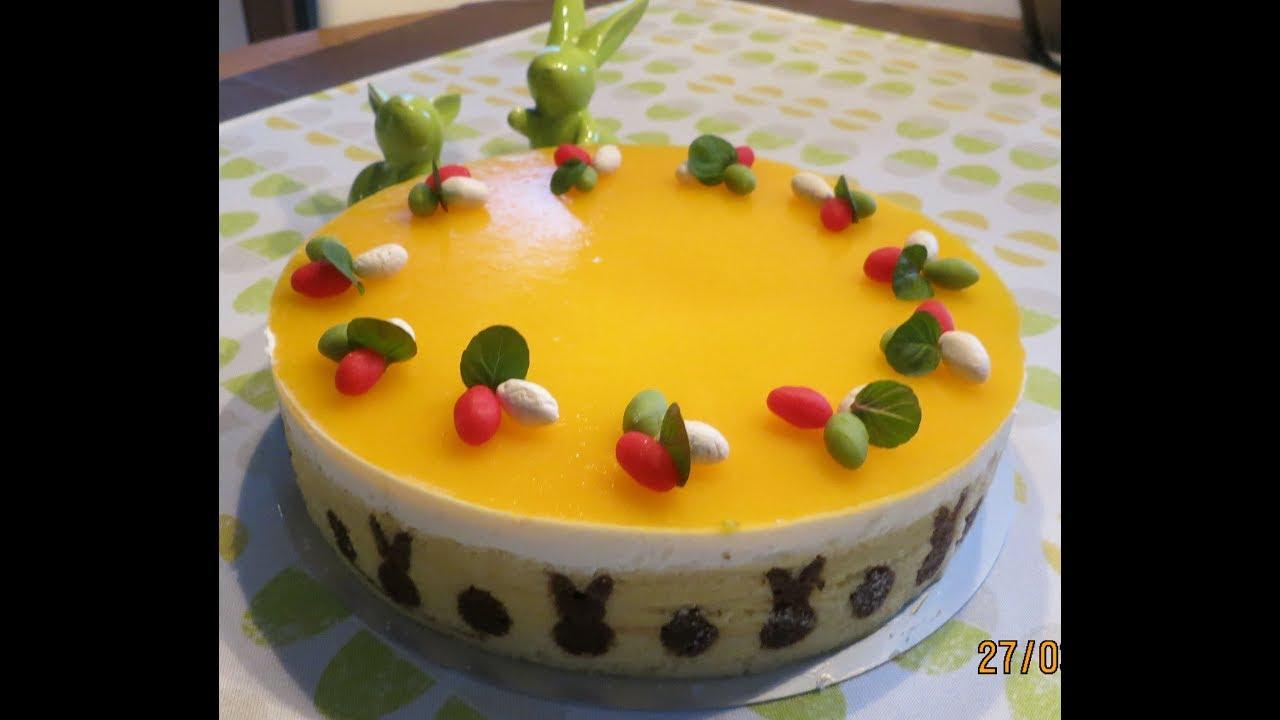 Joghurt Mango Torte Osterlich Youtube