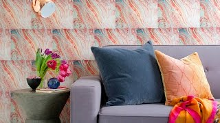 Interior Design — DIY Marbled Paper Accent Wall