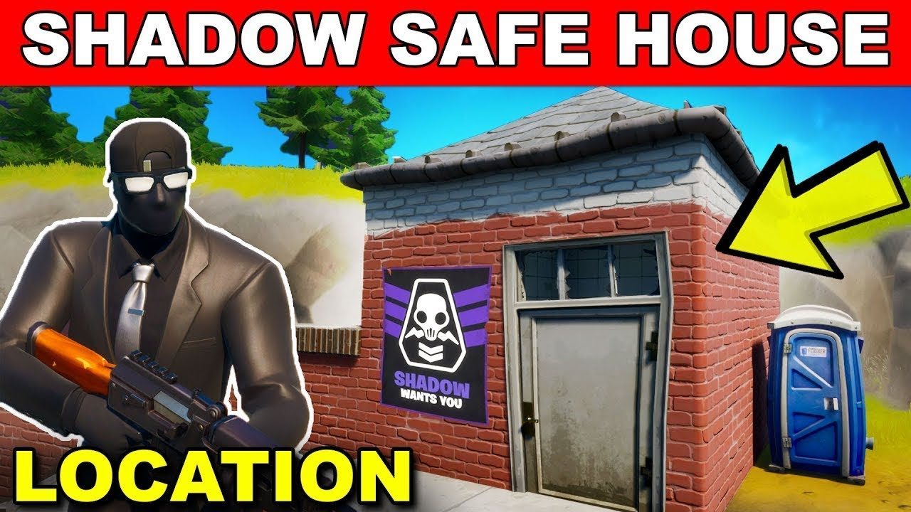 How To Find All 5 Shadow Safe Houses Fortnite Safe House