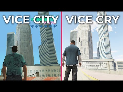 GTA 5 Vice City – Vice Cry Remastered Mod vs. Vice City Original Comparison