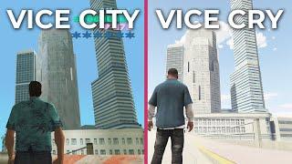 GTA 5 Vice City – Vice Cry Remastered Mod vs. Vice City Original Comparison