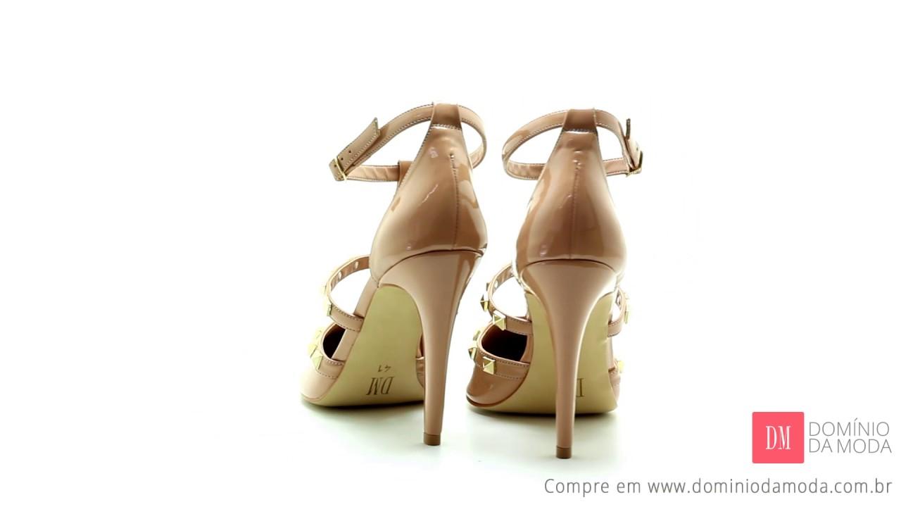 ee266f3bd5 Scarpin DM Extra Verniz Bege Nude DME179729-16. Domínio da Moda  Sapatos Femininos  Grandes