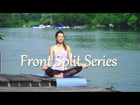 Yoga and Stretching. Front Split Series. Part 5. Dynamic Version. The Ducks as extras.