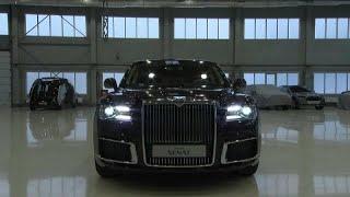 Putin için üretilen Rus yapımı lüks araç Aurus Senat Cenevre Otomobil Fuarı'nda görücüye çıktı…