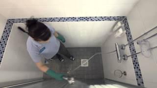Suihkuseinän pesu - pesuharja