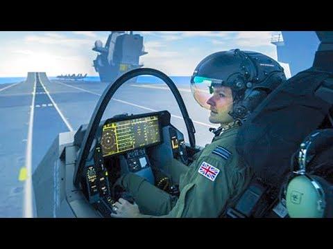 F-35B Does Vertical Landing & SRVL in Warton UK Simulator