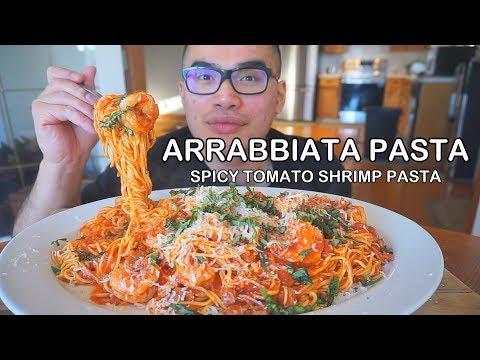 How to make SPICY SHRIMP PASTA –  ARRABBIATA
