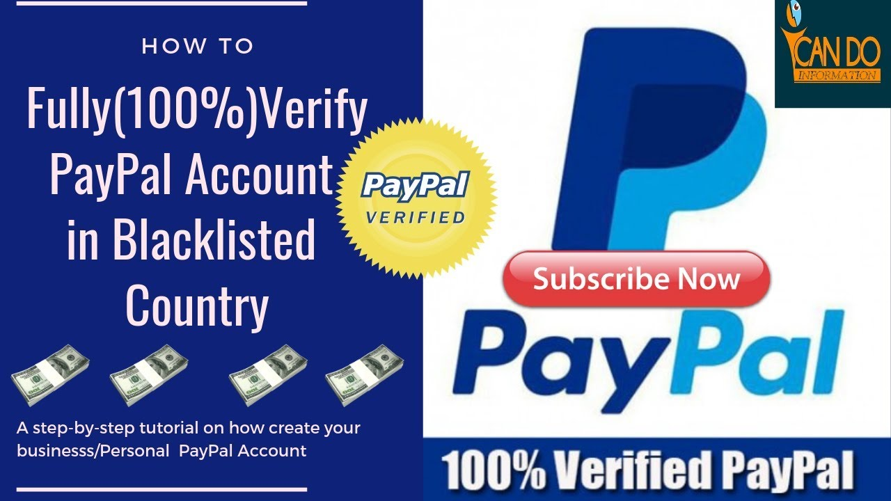 Ghana Paypal: How to Fully (100% ) Verify your PayPal Account pt1- 2019