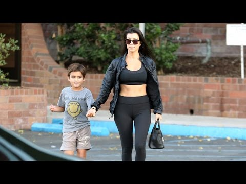 Kourtney Kardashian Gets Comfort From Son Mason After Kim's Terrifying Robbery In Paris
