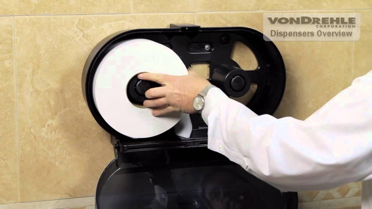 Twin Jr Jumbo Roll Tissue Dispenser 3253 3662 Youtube