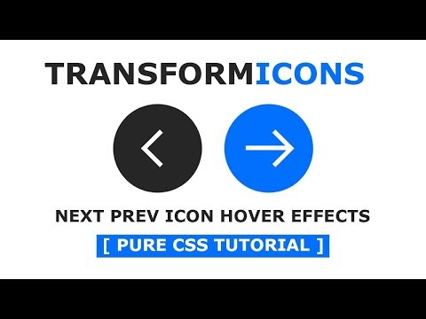 Pure CSS Next Prev Arrow Hover Effects - Animated