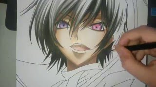 Speed Drawing - Lelouch Vi Britannia (Code Geass)
