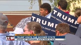 Donald Trump Visits The Sooner State
