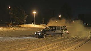 Drifting the 300hp AWD Civic Wagon