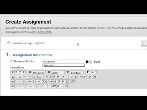create assignment on blackboard