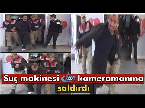 Jandarmanın Elinden Kurtulan Firari Suçlunun Kameramana Saldırması