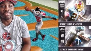 PRIMETIME PACK OPENING & ULTIMATE LEGENDS DEZ & SEAN! Madden NFL 16 Mobile Gameplay