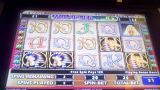 Cleopatra II High limit slot machine bonus free spins $1 denom 11 spins