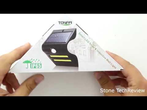 Unboxing Tonffi Led Solar Leuchte Solarlampe Wegeleuchte Ip65 Mit Bewegungssensor