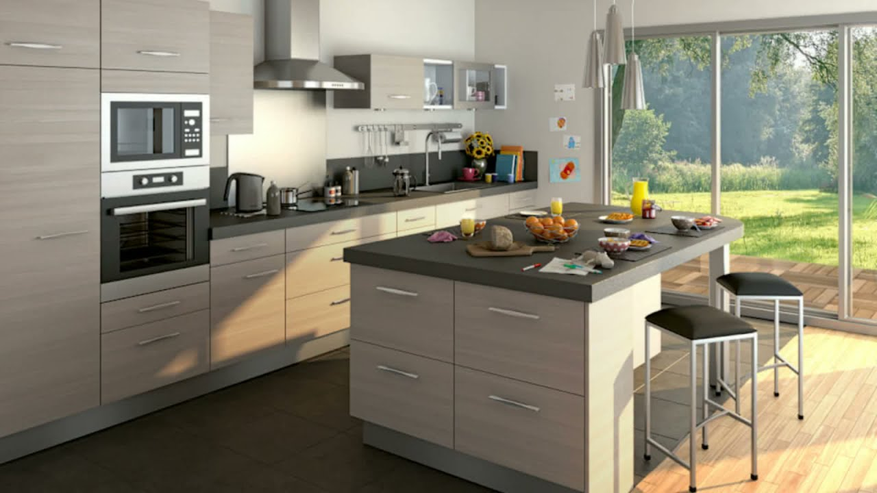 meubles de cuisine lapeyre youtube. Black Bedroom Furniture Sets. Home Design Ideas