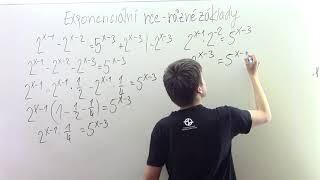 Exponenciální rovnice - více základů