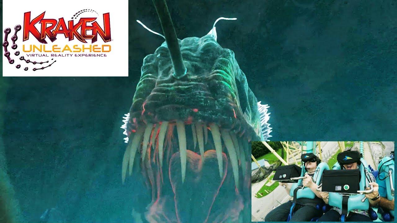 Download Kraken Unleashed Virtual Reality Coaster - Full Ride POV and Rider Reaction - SeaWorld Orlando