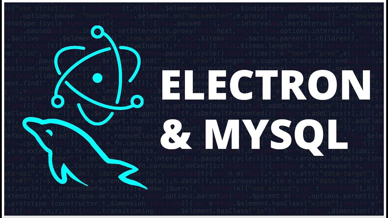 Electron & MySQL CRUD | Aplicación de escritorio con HTML, CSS y Javascript
