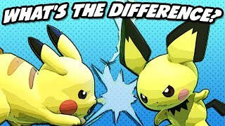 What's the Difference between Pikachu and Pichu? (SSBU)