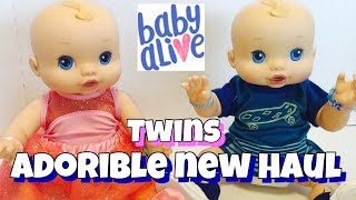 Baby Alive twins HAUL FROM WALMART new My Life Clothes PACIFIERS