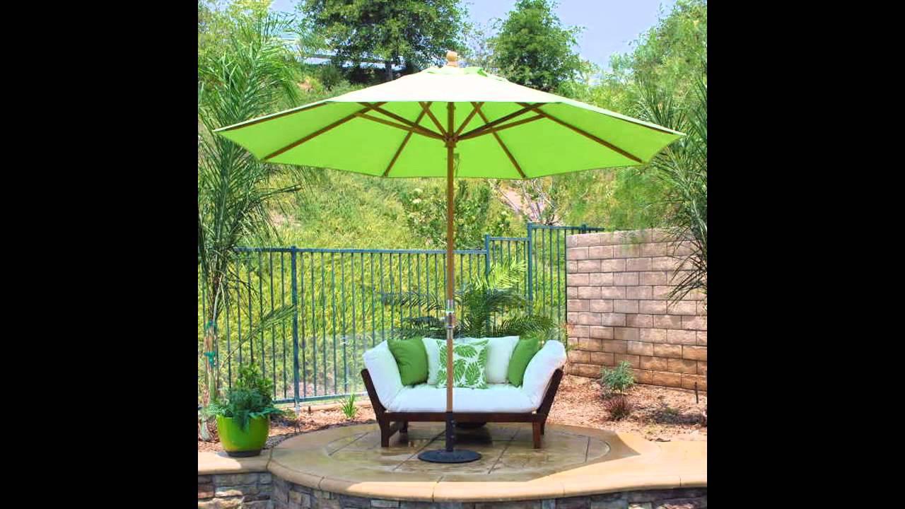 small patio table with umbrella