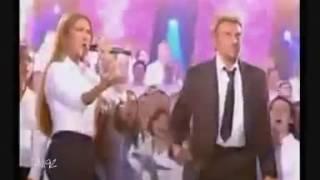 CELINE DION et JOHNNY HALLIDAY L'ENVIE avec les 500 choristes..mp4