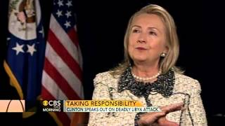 Clinton takes blame for U.S. attack in Libya
