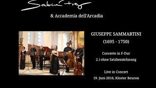 Giuseppe Sammartini Concerto F-Dur für Blockflöte, Streicher und B.c.,  2. Satz
