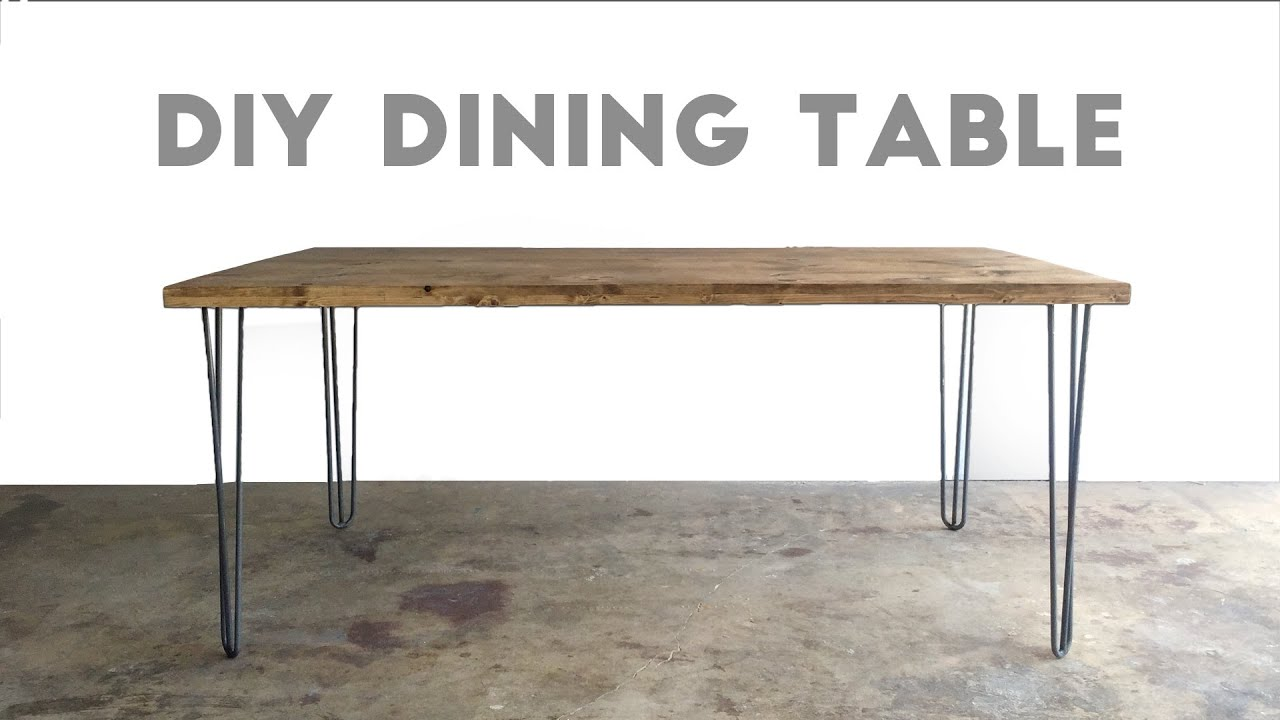 How To Build a Dining Table Modern Builds