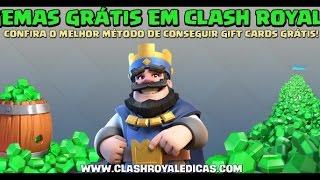 como ganhar gemas grátis clash royale/clash of clans